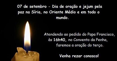 Oração pela paz na Síria dia 7 de setembro