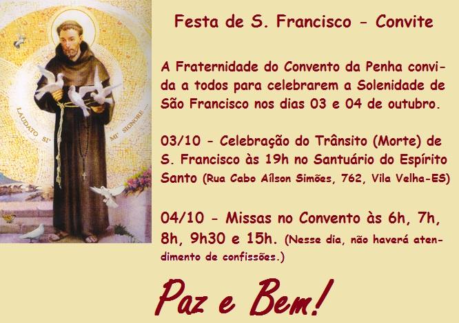 Venha participar da Festa de São Francisco 2013!