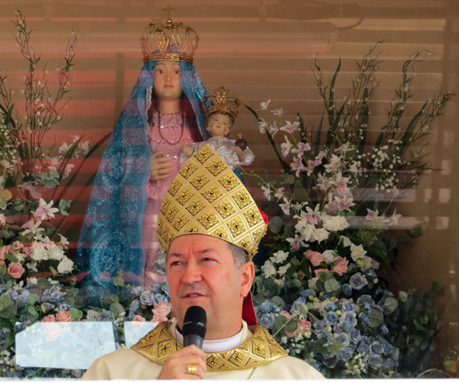 O novo bispo de Colatina pede ações concretas pela paz